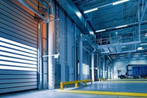 warehouse with truck cold storage